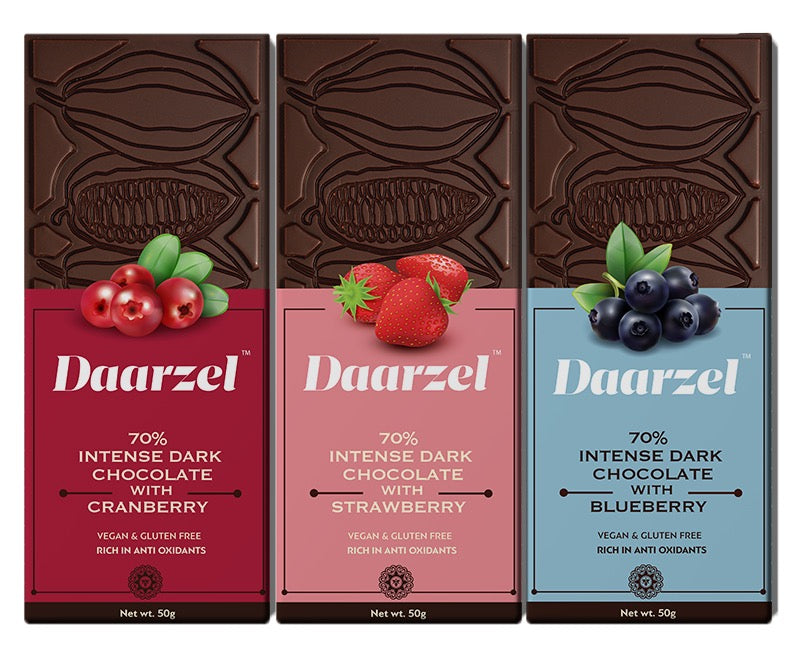 Ambriona Daarzel - 70% Vegan & Gluten Free Dark Chocolate Box