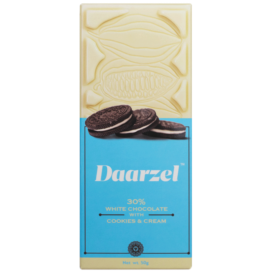 Daarzel - Creamy White Chocolate With Crunchy Cookies And Cream | 50 g