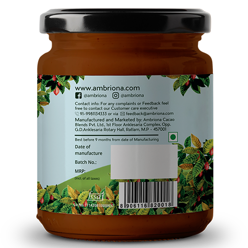 Ambriona - Almond Butter With Dark Chocolate | Contains 50% Almonds| Vegan | Gluten Free |  Vegan | All Natural  |  High Protein | 200 g