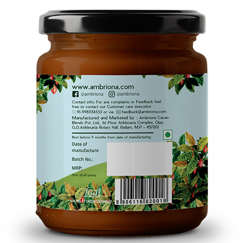 Peanut Butter With Dark Chocolate | Contains 60% Peanuts | Vegan | Gluten Free | Natural | 200g