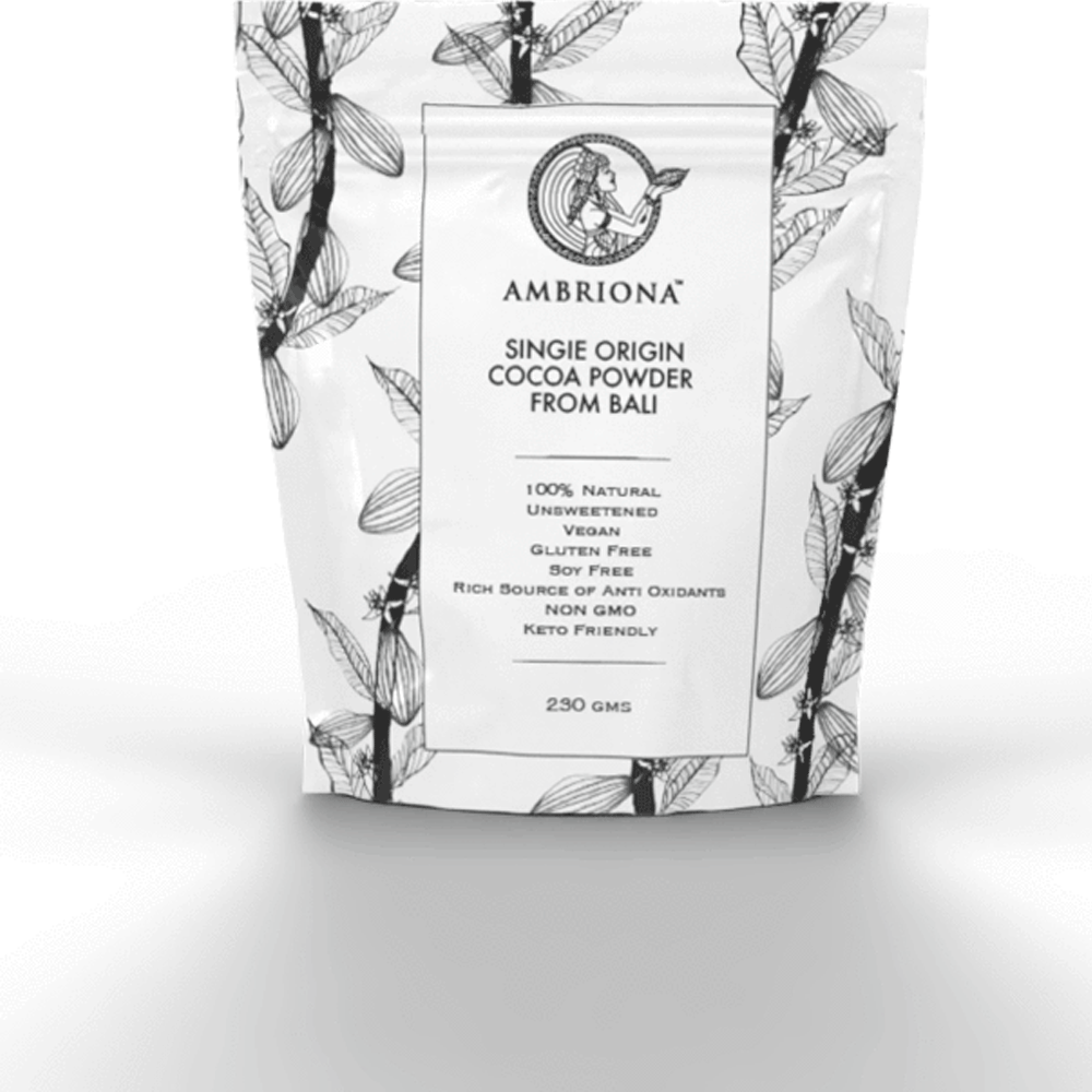 Single origin cacao powder from Bali  | Vegan | Rich in Anti - Oxidants | All Natural | Unprocessed | 230 g