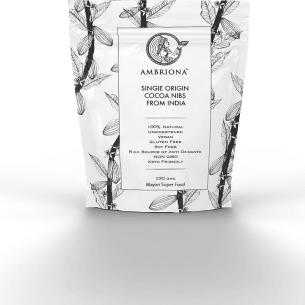 Ambriona - Single Origin Cacao Nibs from India | Vegan | Rich in Anti - Oxidants | All Natural | Unprocessed | 230 g
