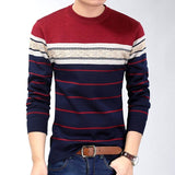 Casual Striped Mens Sweat Shirt