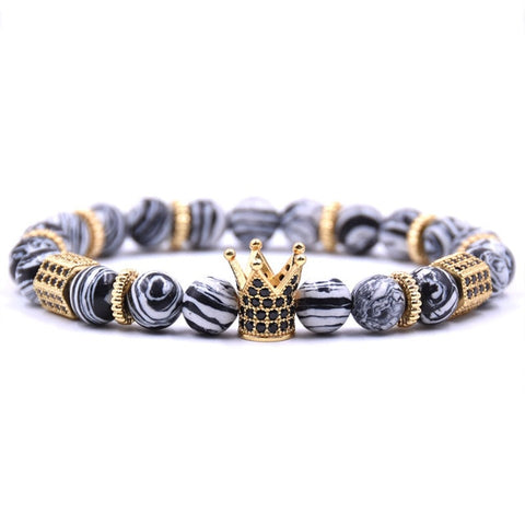 Black & White King Crown