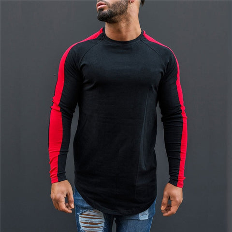 Black & Red Striped Long Sleeve