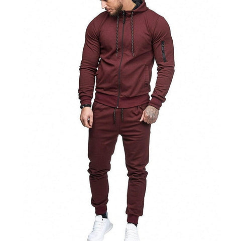 Wine Red 2Pc Tracksuit