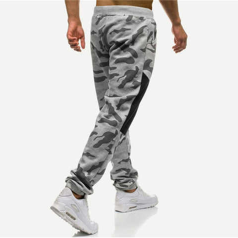 Gray Camouflage Jogger Sweatpants