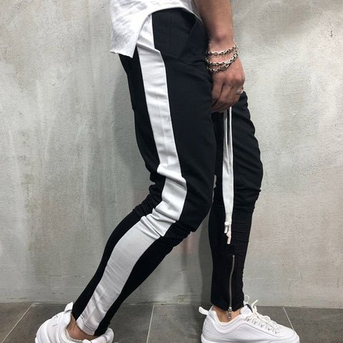 Black & White Track pants