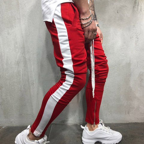 Red & White Track pants