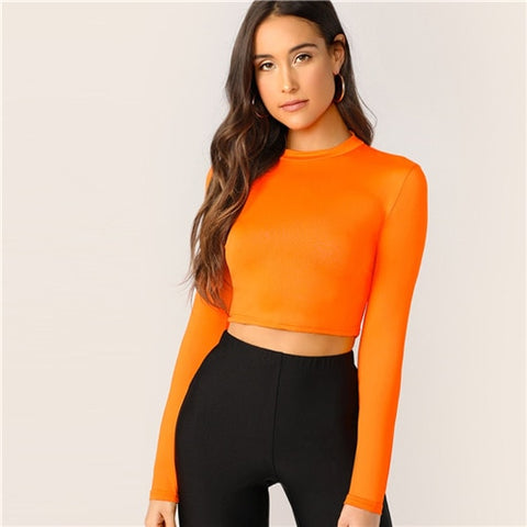 Orange Crop Top