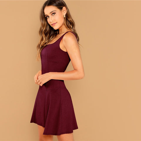 Burgundy Summer Dress