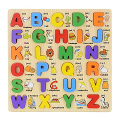 3D Wooden Alphabet Colorful puzzle - Jubilofun