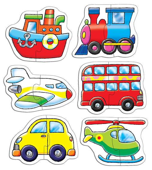 Transportation 6 Large-Piece Puzzles - Jubilofun