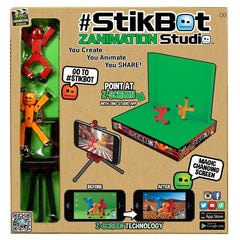 Stikbot Studio with green background - Jubilofun