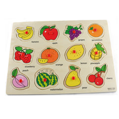 Fruit Puzzles Wooden Hand Grab Puzzle Educational Toy For Kids - Jubilofun