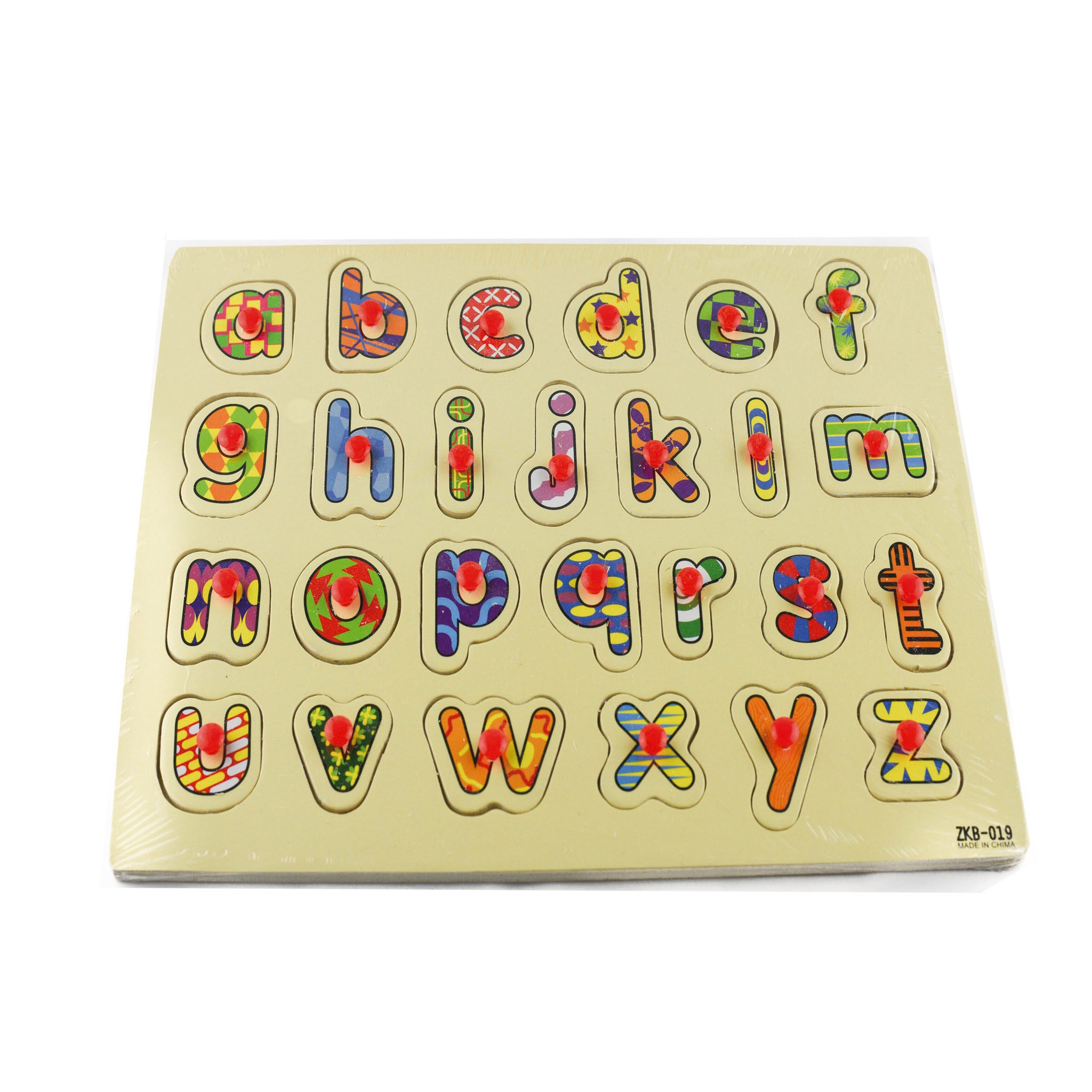 Alphabet Puzzles Wooden Hand Grab Puzzle Educational Toy For Kids - Jubilofun