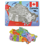 Canada Map Wooden Puzzle