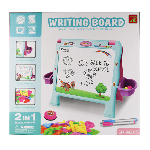 2 in 1  Easel for Kids, Double Sided Black/White Board Toddler - Jubilofun