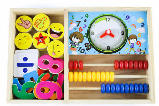 Fun clock learning box for kids - Jubilofun