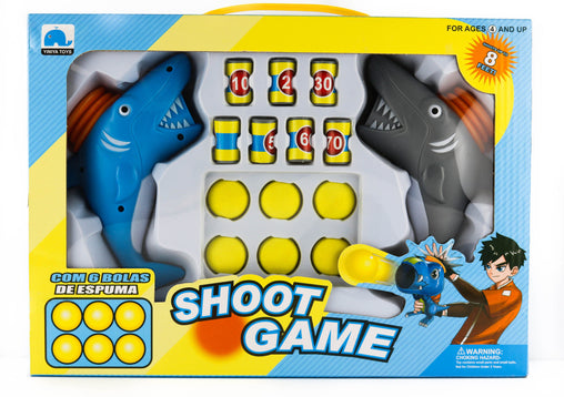 2 IN 1 Shark Gun Dual Battle Pack Foam Ball Air Powered Shooter - Jubilofun