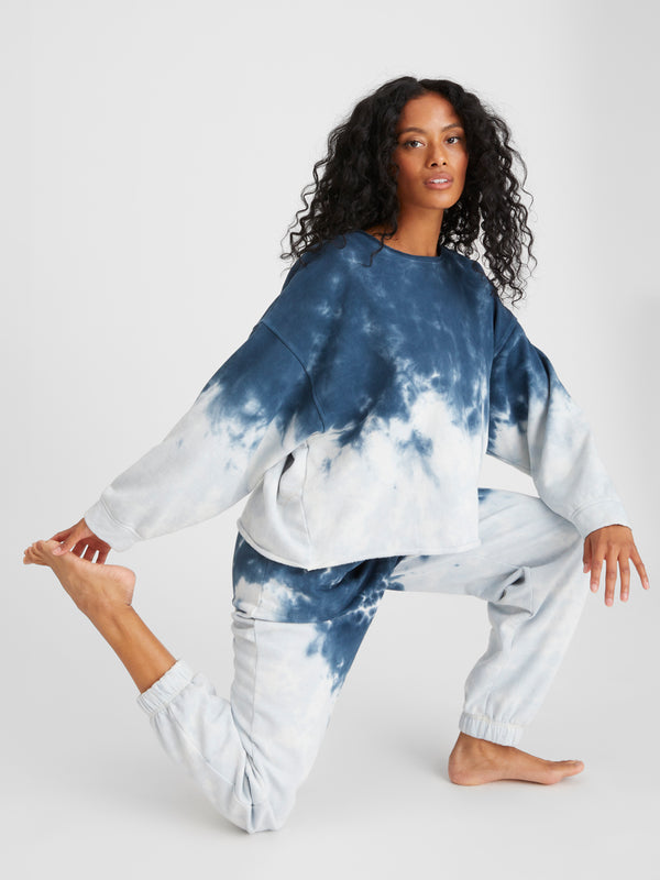 Perfect Sweatshirt Blue Tie Dye