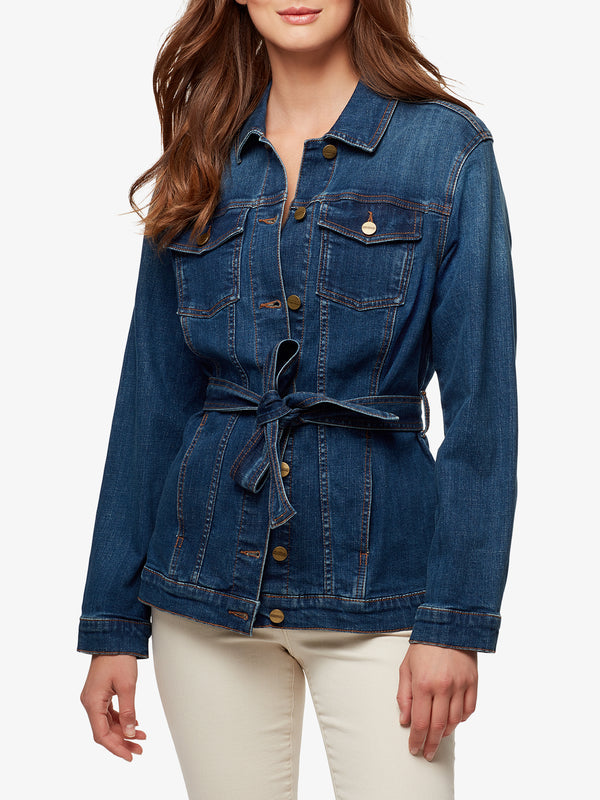 Jessa Tied Trucker Jacket Kestrel