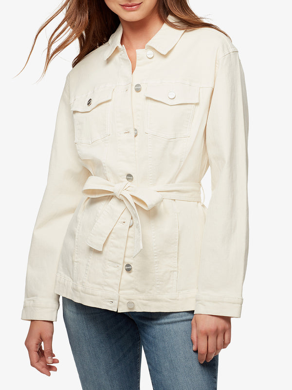 Jessa Tied Trucker Jacket Moonstone
