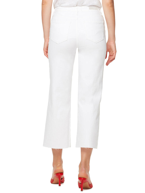 Wide Leg Crop Jean White Jasmine
