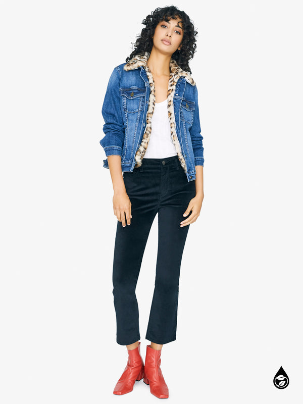 Kylie Faux Fur Denim Jacket Hillside