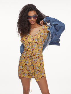 Button Front Romper Sunrays