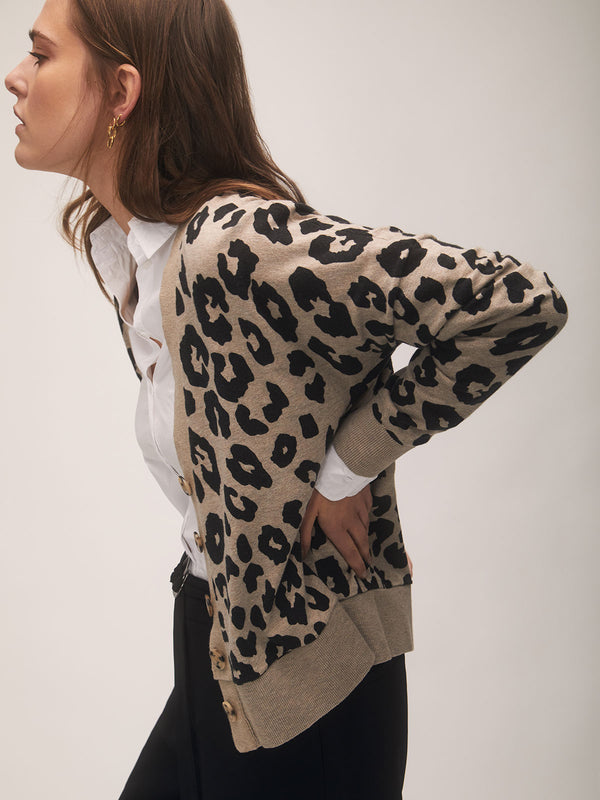 Let's Hang Cardi Dark Exploded Spots - Sweater