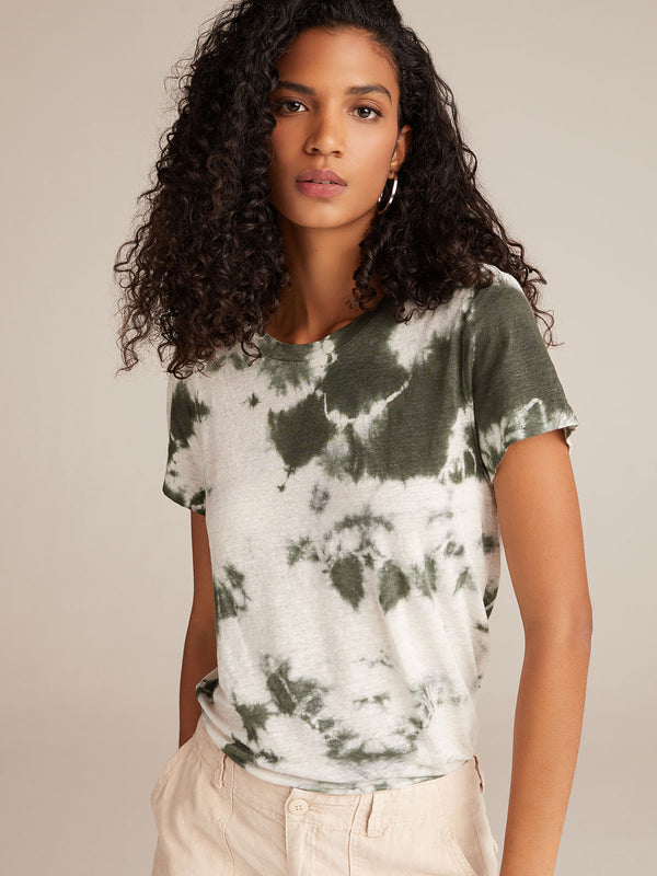 The Perfect Tee Aged Green And White Tie Dye