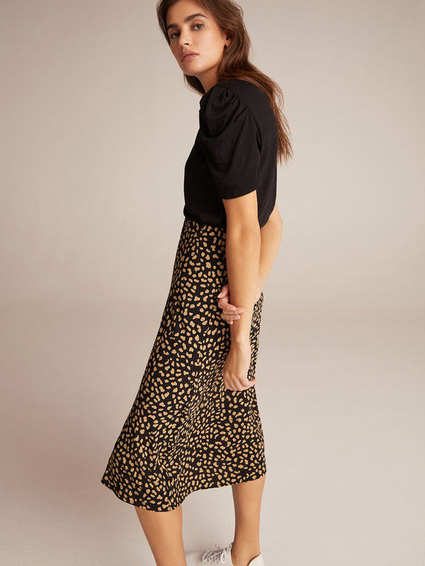 Everyday Midi Skirt Black Modern Spots
