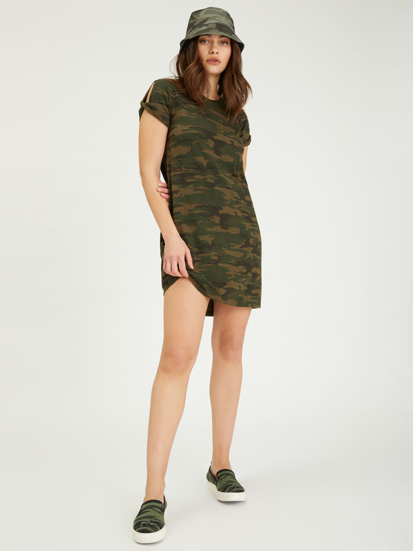 So Twisted T-Shirt Dress Mother Nature Camo - Dress