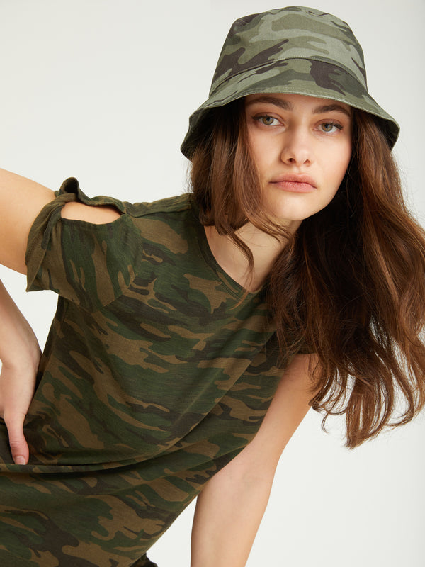 So Twisted T-Shirt Dress Mother Nature Camo - Mother Nature
