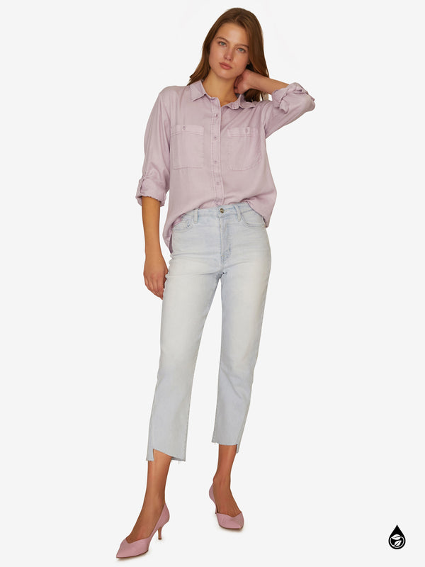 Steady Boyfriend Shirt Washed Lilac