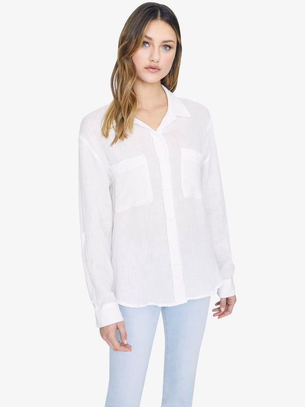 Steady Boyfriend Shirt White