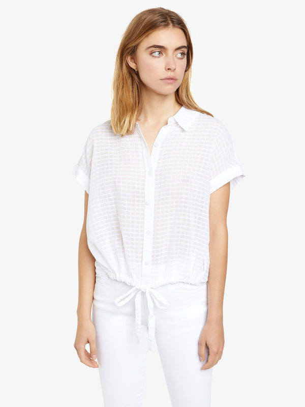 Borrego Tie Shirt White