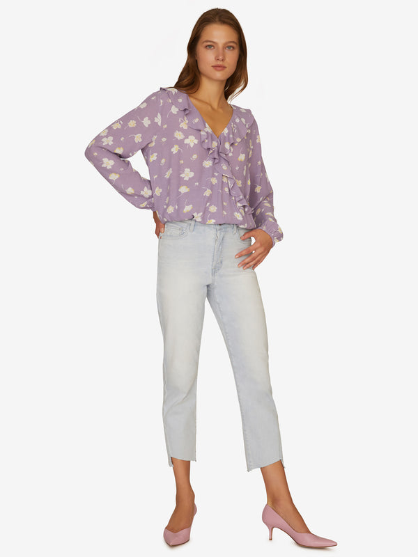 Jules Ruffle Wrap Blouse Hello Spring