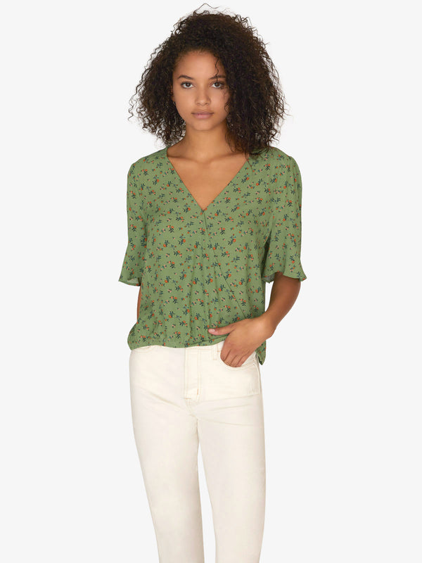 Garden Party Wrap Top Go Green