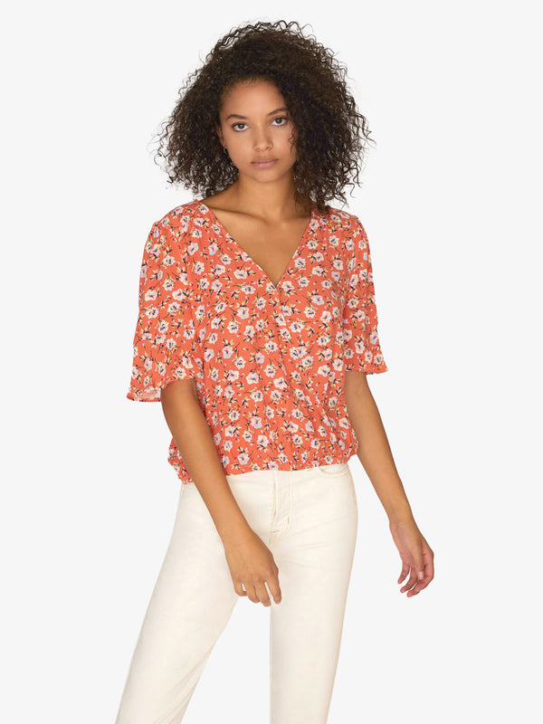 Garden Party Wrap Top Spring Fever