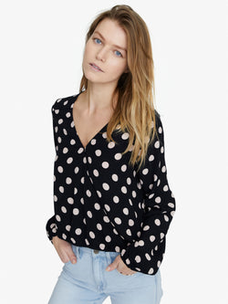 Cori Blouson Sleeve Shirt Cherry Blossom Dot
