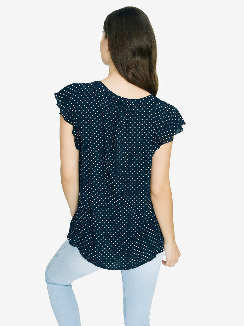 Paloma Shell Navy Bloom Dot