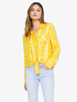 Hayley Tie Front Shirt Fresh Picked Dandelion