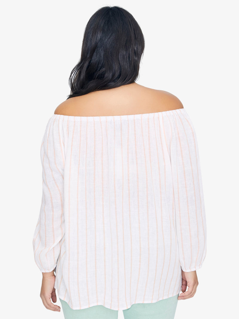 Iris Ballet Neck Top Intuition Stripe