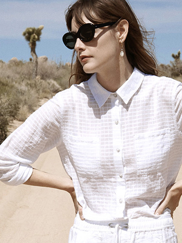 Resort Tie Shirt Brite White