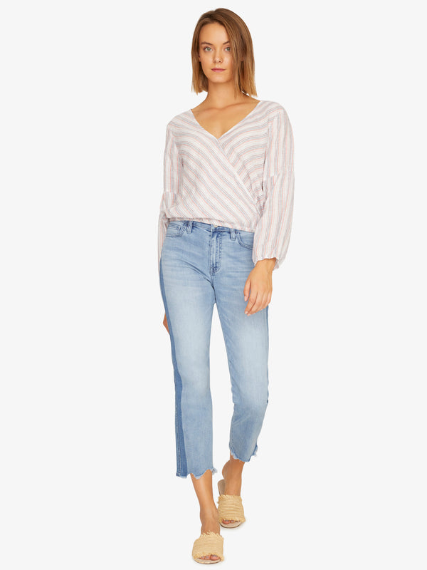 Sand Dune Wrap Top Santa Fe Stripe