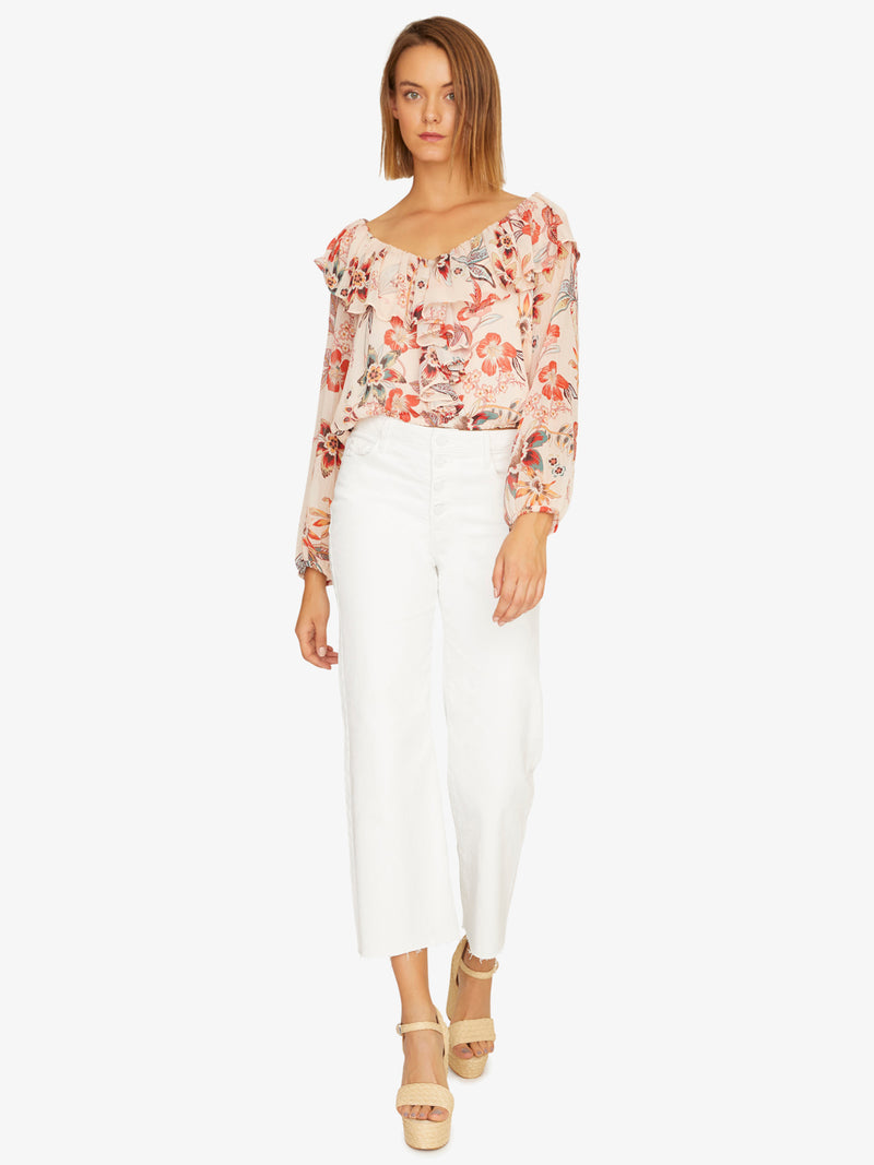 Lady Like Blouse Desert Floral