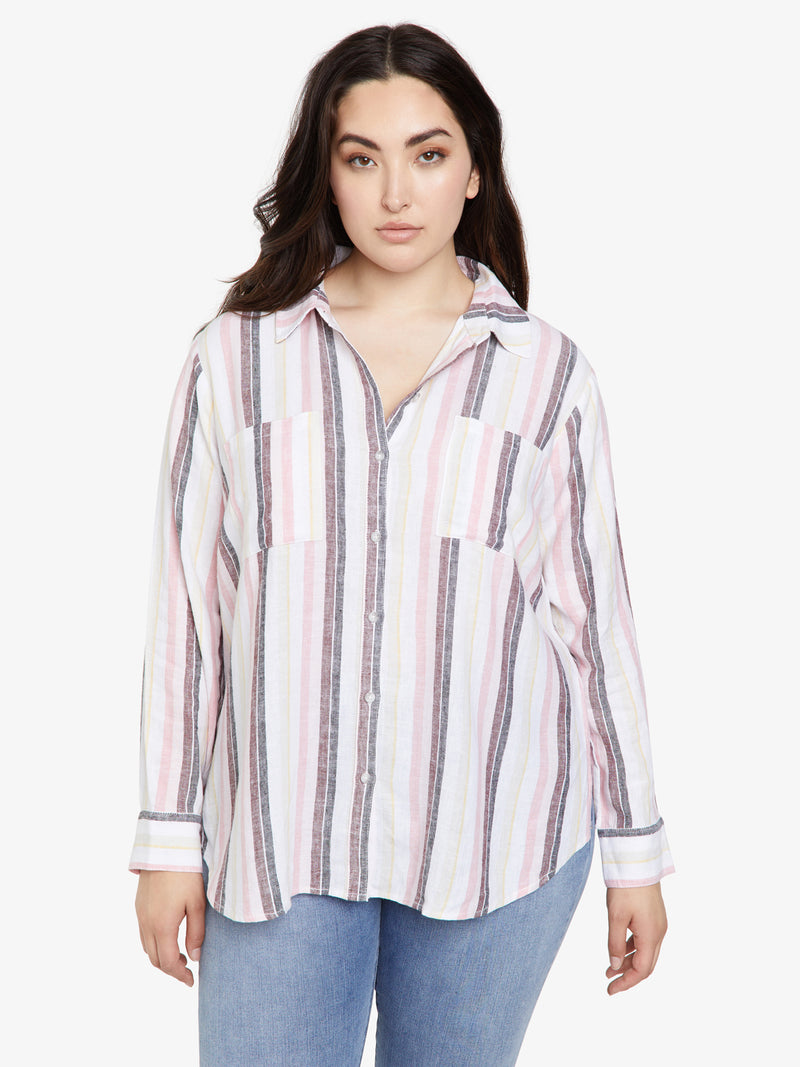 Favorite Boyfriend Shirt Sunset Stripe