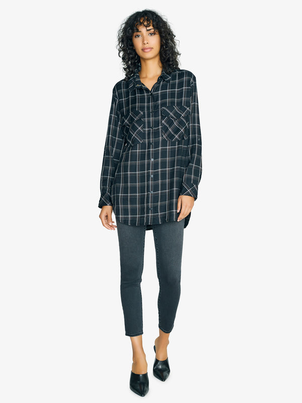 Main St. Boyfriend Tunic Inclusive Plaid